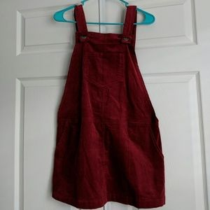 NEW LUCCA COUTURE Red Corduroy overall dress